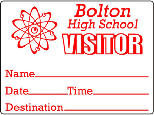 Visitor Pass ID Sticker Label