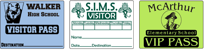 Sample Visitor Passes