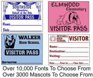 visitor sticker labels for schools and businesses