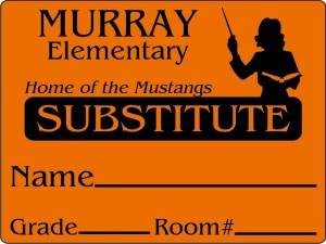 substitute teacher id name tags schoollabels