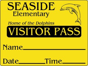 Visitor Stickers   School Labels   (877) 522-3565